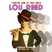 REED, LOU - I NEVER SAID IT WAS NICE, ORPHEUM THEATER... (2CD)