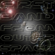 FIRST BAND FROM OUTER SPACE - (BLACK) WE'RE ONLY IN IT FOR THE SPACEROCK (2LP)