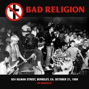 BAD RELIGION - 924 GILMAN STREET, BERKELEY, CA. OCT. 21, 1989